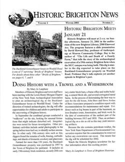 Volume 1 Number 3 Winter 2001