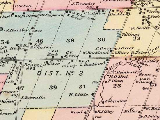 1872 map of Westfall Rd in Brighton New York