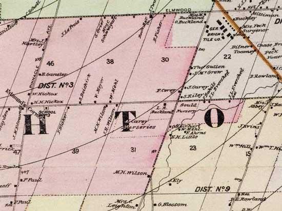 1887 map of Westfall Road in Brighton New York