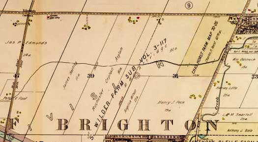 1924 map of Westfall Road in Brighton New York