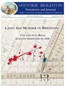 Cover image, Historic Brighton newsletter, Vol. 22, #2, Spring/Summer 2021