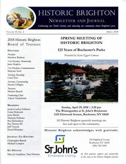 Cover, newsletter Volume 19 No.2 Spring 2018