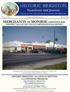 Cover image Historic Brighton newsletter Winter 2020