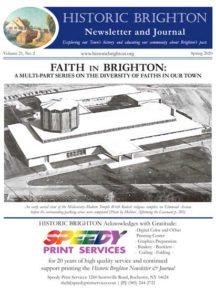 Cover image of Historic Brighton newsletter Vol. 21 #2 - Spring 2020