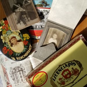 photo of collage of various memorabilia