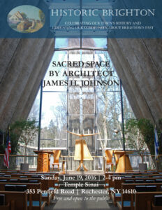 poster announcing Sacred Space/James H. Johnson presentation