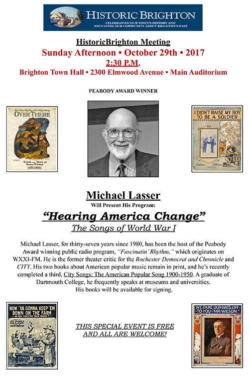 FINAL REVISED MIKE LASSER PROGRAM POSTER
