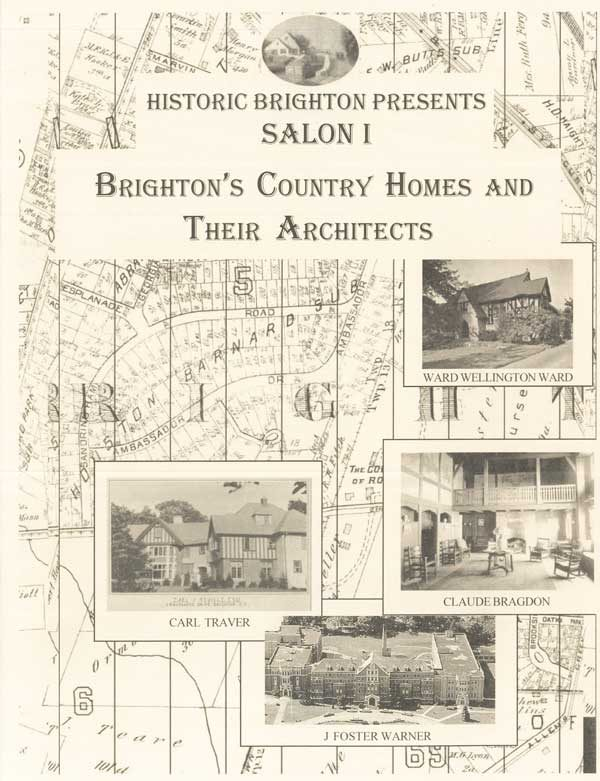 Brighton' Country Homes & Their Architects - publication front cover image