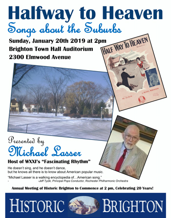 """Songs of Suburbs"" event poster"