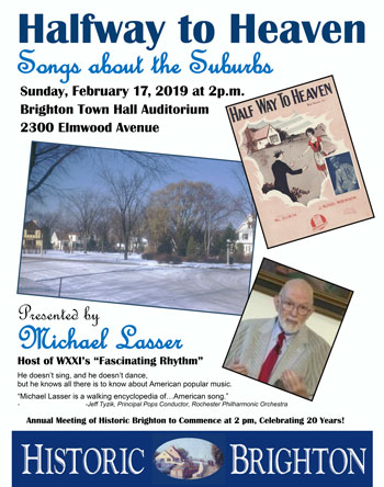 Songs of the Suburbs event poster