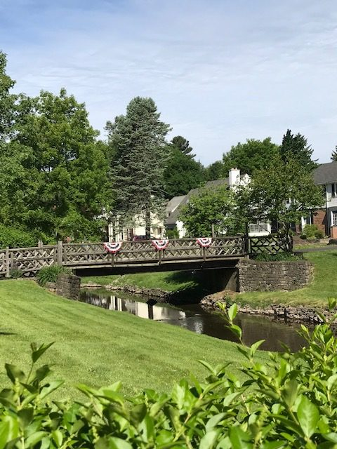 photo of footbridge in Stonybrook neighborhood, Brighton, NY