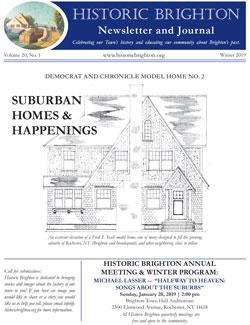 Cover image Historic Brighton newsletter Winter 2019