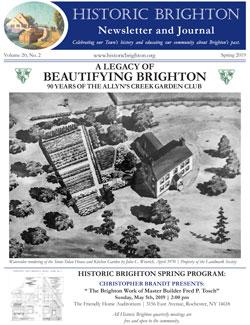 Cover image Historic Brighton newsletter Spring 2019