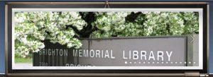 Brighton memorial Library sign