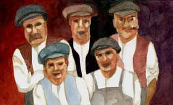 portraint of 5 Buckland brickmakers of Brighton, NY