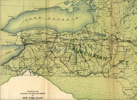 Map, drawn by Herman L. Fairchild in 1909