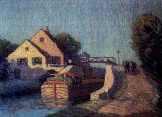 """The Canal Boat"" by George Herdle ca. 1915"