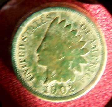 Indian head penny found on the Buckland Farm property in Brighton New York