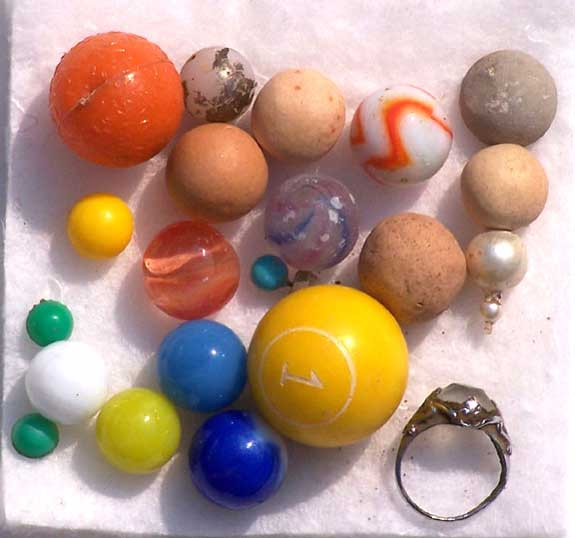 Spherical items found on the Buckland Farms property in Brighton New York