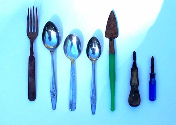 Spoons and related items found on the Buckland Farm property in Brighton New York
